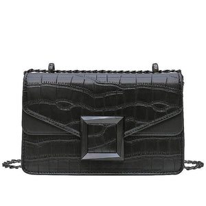 Stella - Stone Pattern Classic Shoulder Bag - Fashion Mode Gallery