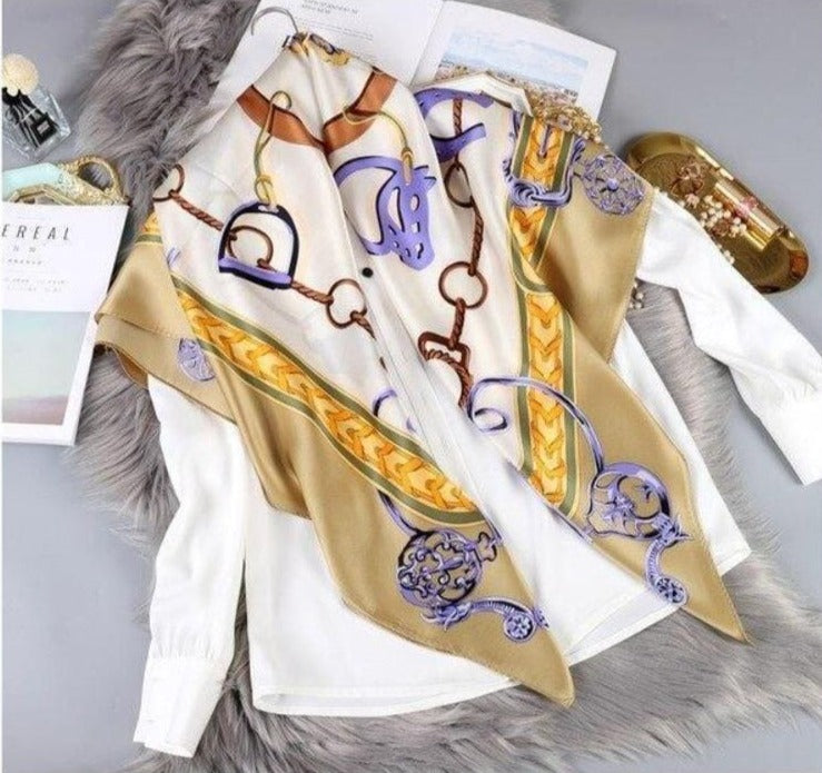 Pure Silk Luxury Women's Scarf - Fashion Mode Gallery