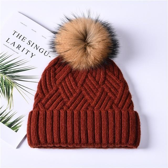 Stylish Cashmere Knitted Winter Beanie - Fashion Mode Gallery