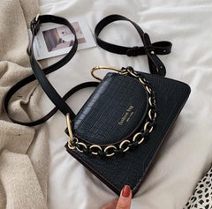 Jackie 3-in-1 Bag - Small Crossbody Bag with Gold Chain Strap