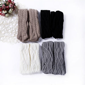Luxe Warmth Cable Knit Thigh-High Socks - Tall Boot Socks - Fashion Mode Gallery