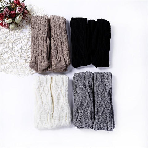 Luxe Warmth Cable Knit Thigh-High Socks - Tall Boot Socks