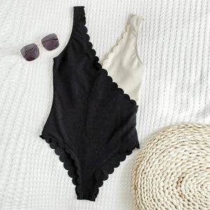 Scalloped One Piece Swimsuit - Fashion Mode Gallery