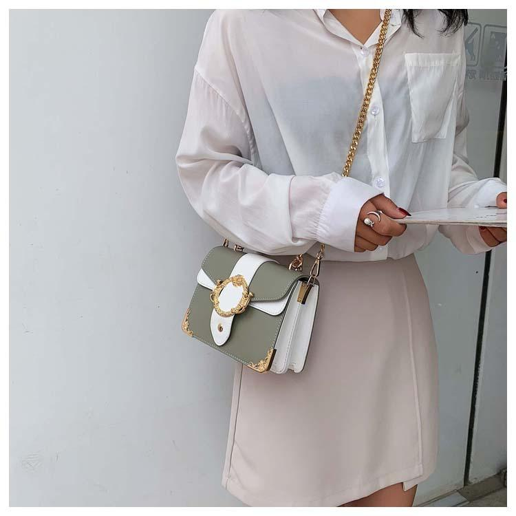 Olivia - Over-the-Top Crossbody Bag With Gold Chain Strap - Small Shoulder Bag - Fashion Mode Gallery