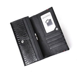 Gabrielle - Trifold Leather Wallet With Coin Pocket - Fashion Mode Gallery