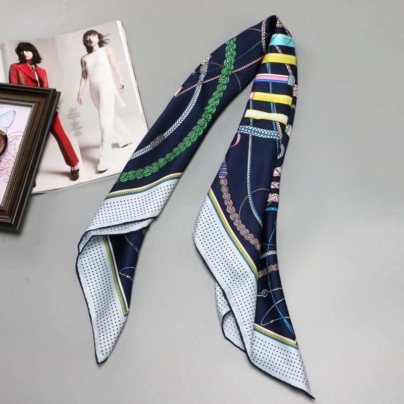 Abstract Design Women's Silk Scarf - Fashion Mode Gallery
