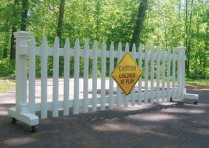 10 ft Free-standing Driveway Gate: