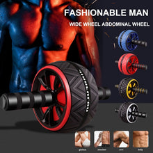 Cargar imagen en el visor de la galería, Hot ABS Abdominal Roller Exercise Wheel Mute Roller Arms Back  Core Trainer Body Shape Training Supplies Fitness Equipment