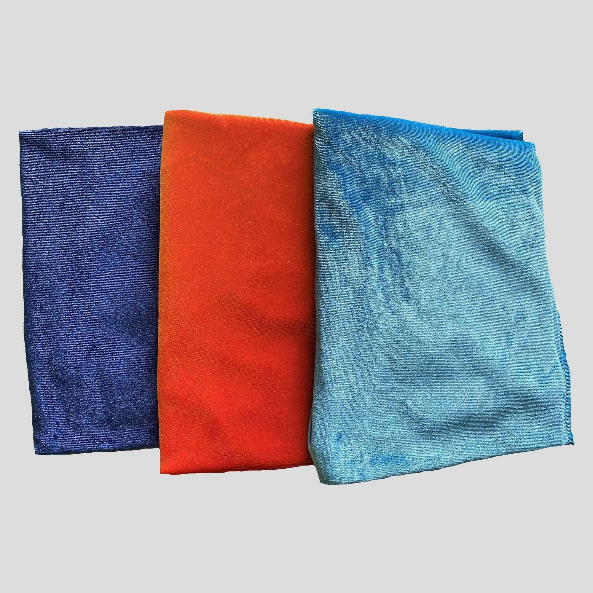 3 Pack Velvet Durags (Blue, Orange & Aqua) - Durag Wave