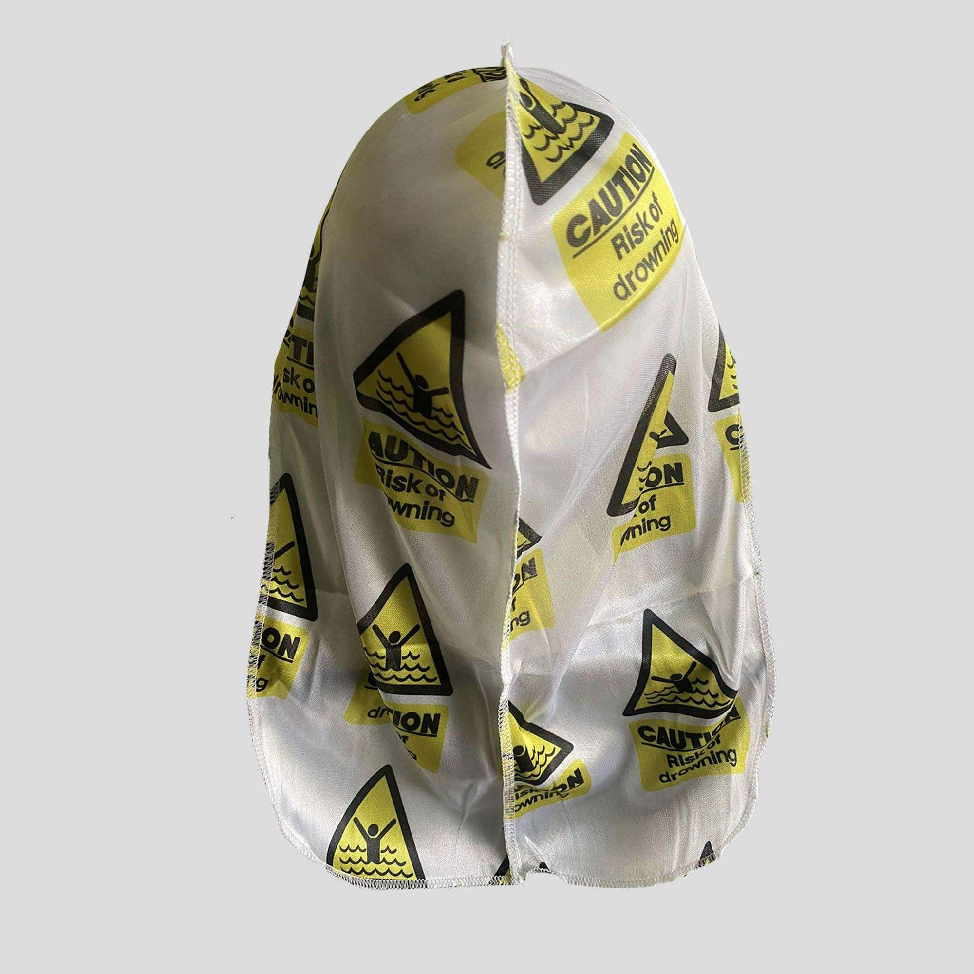 Caution Risk of Drowning Silky Durag - Durag Wave