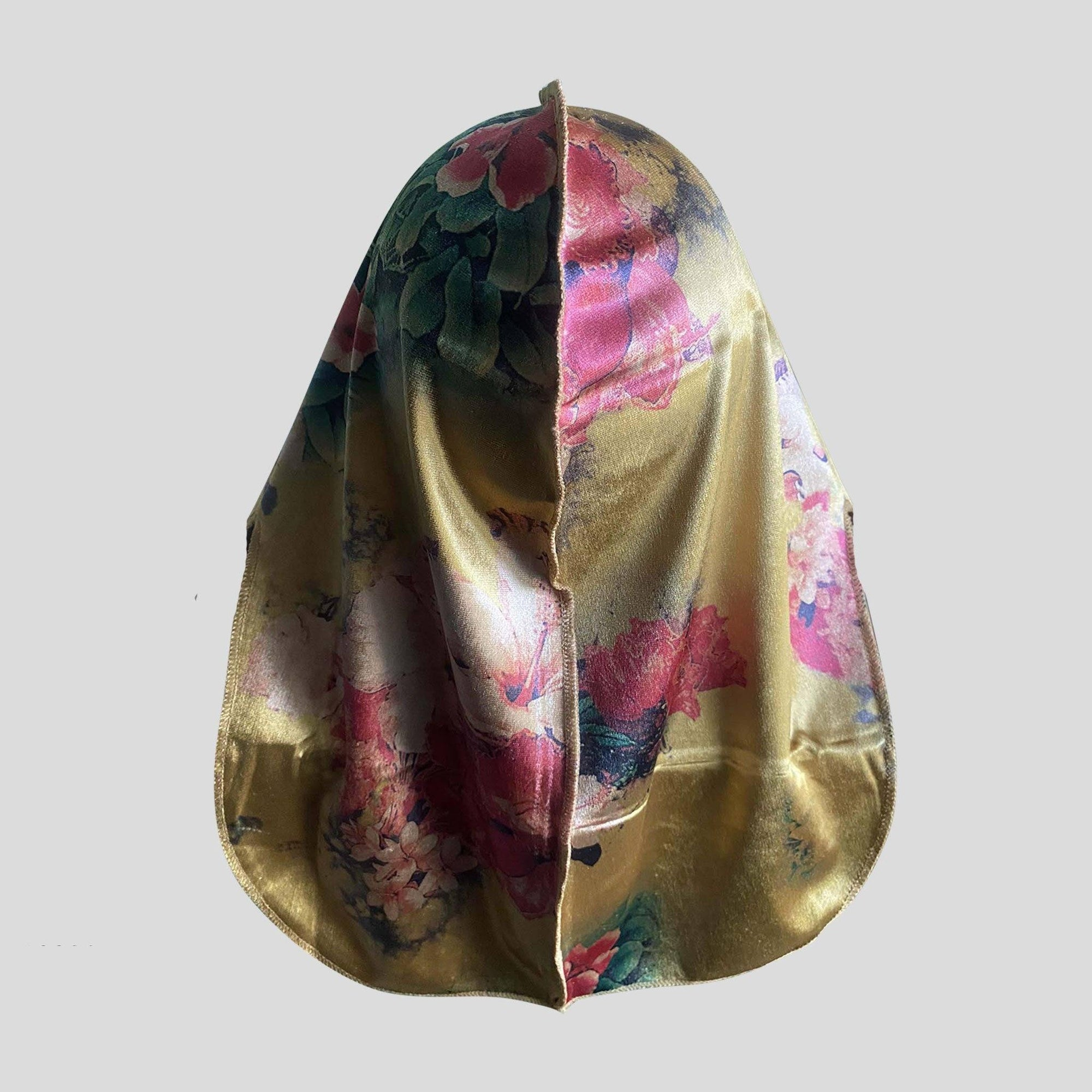 Premium Golden Flower Velvet Durag - Durag Wave