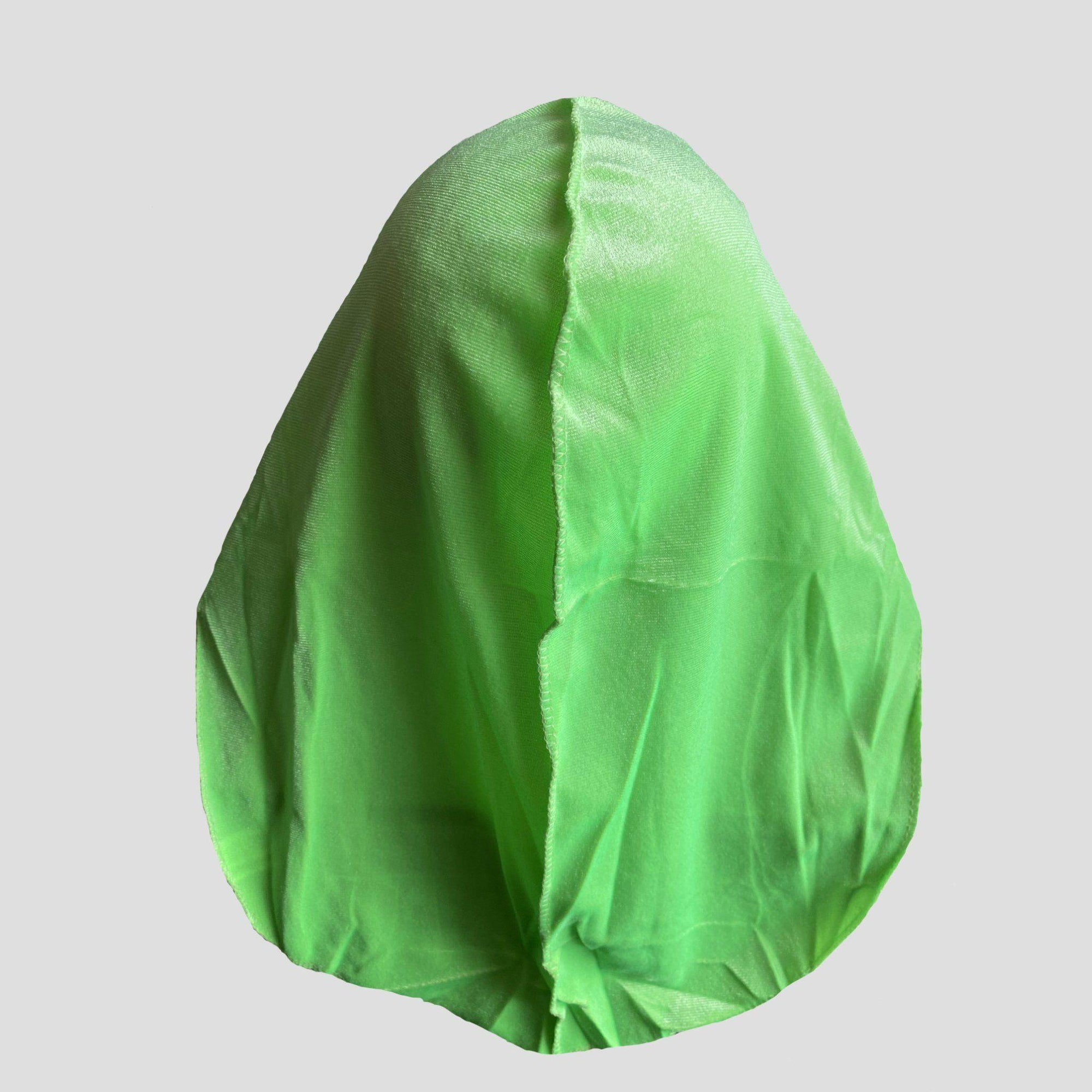 Premium Limited Edition Neon Green Velvet Durag - Durag Wave