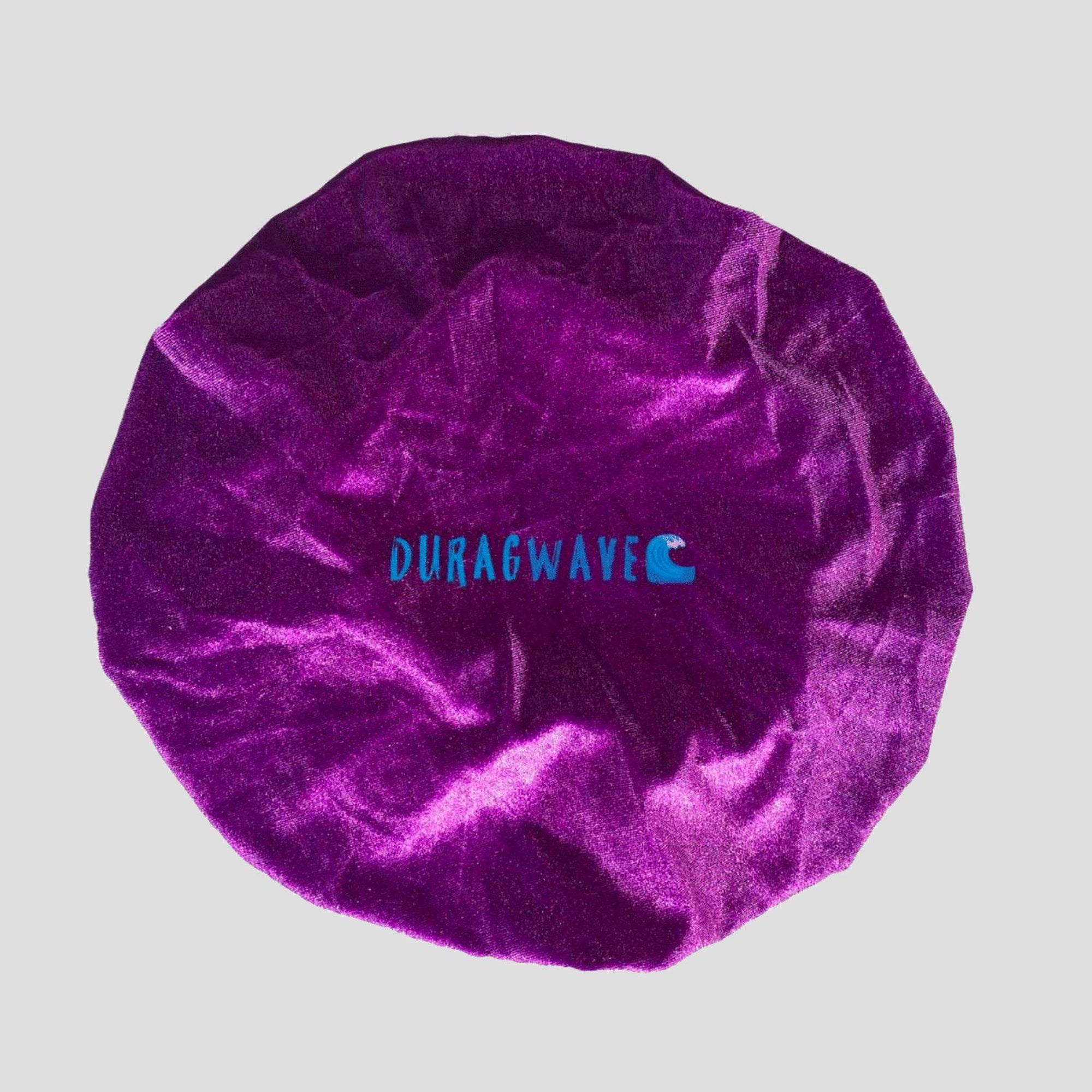 Purple Velvet Bonnet - Durag Wave