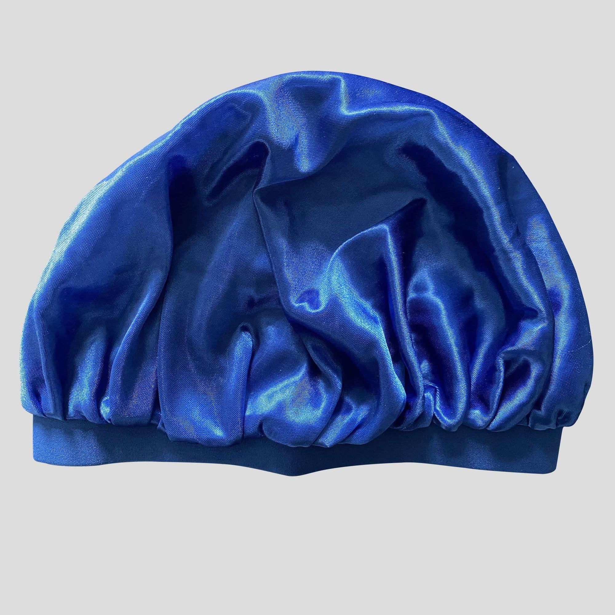 Royal Blue Silky Bonnet - Durag Wave