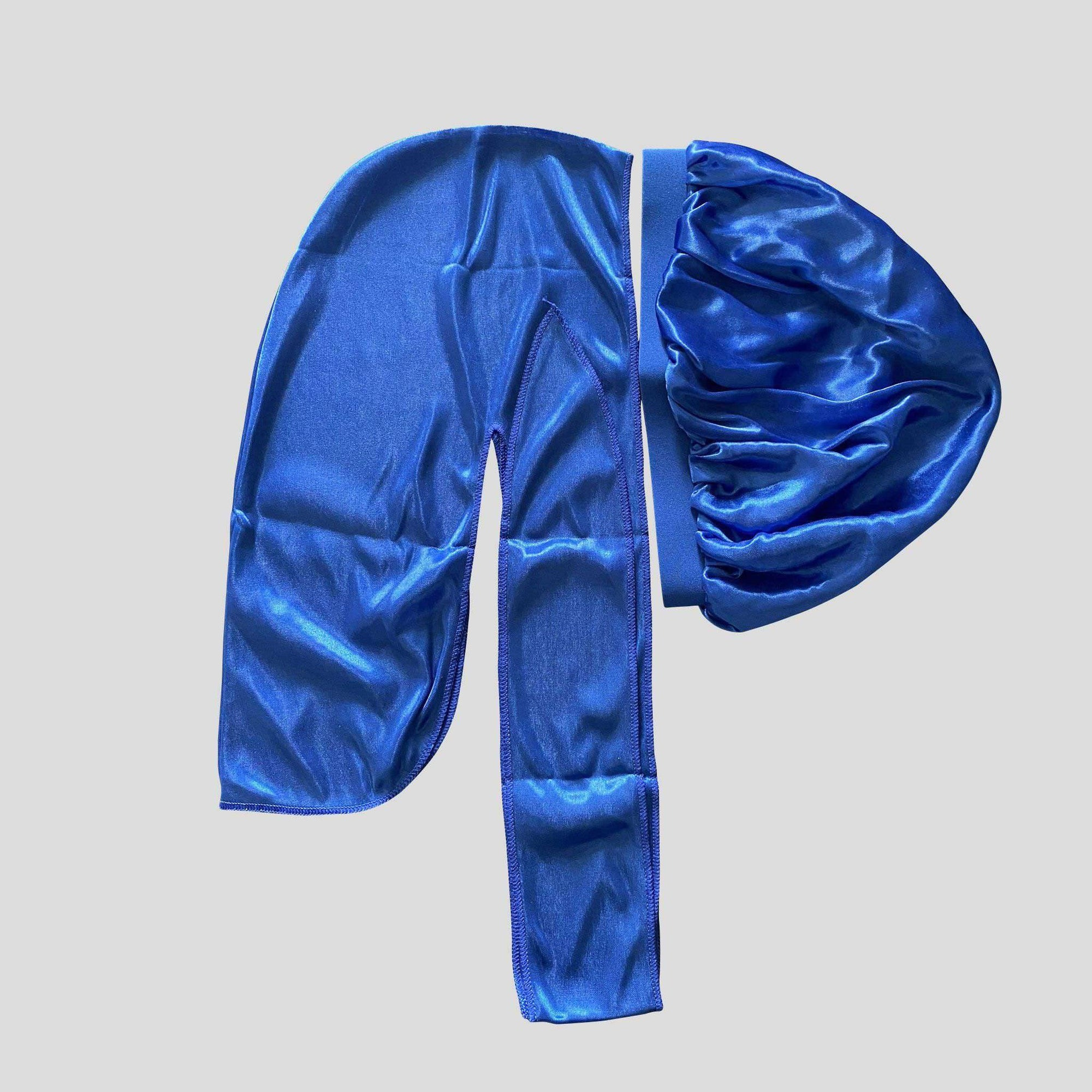 Royal Blue Silky Matching Durag And Bonnet - Durag Wave