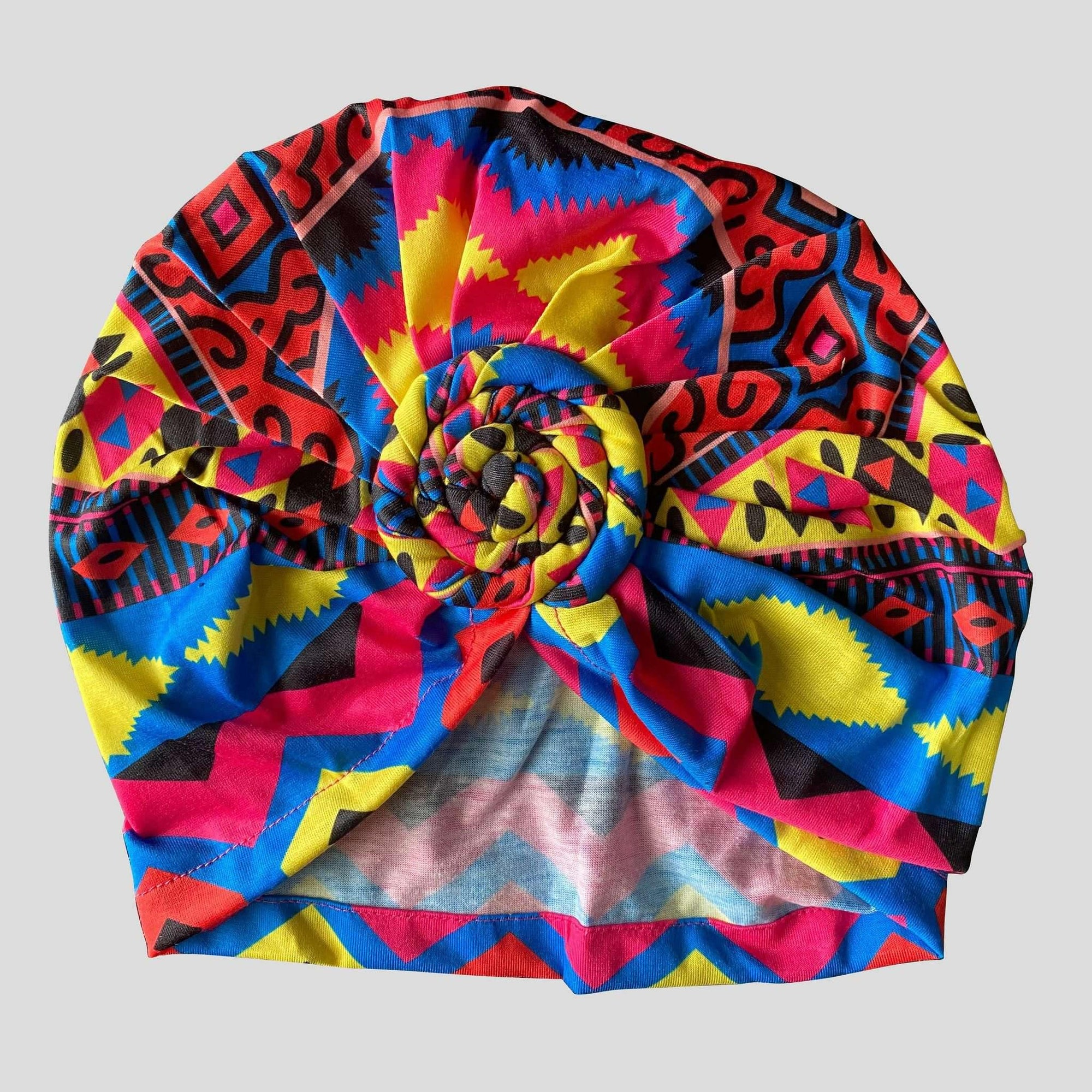 "Top Knot ""In Living Color"" Head Wrap - Durag Wave"