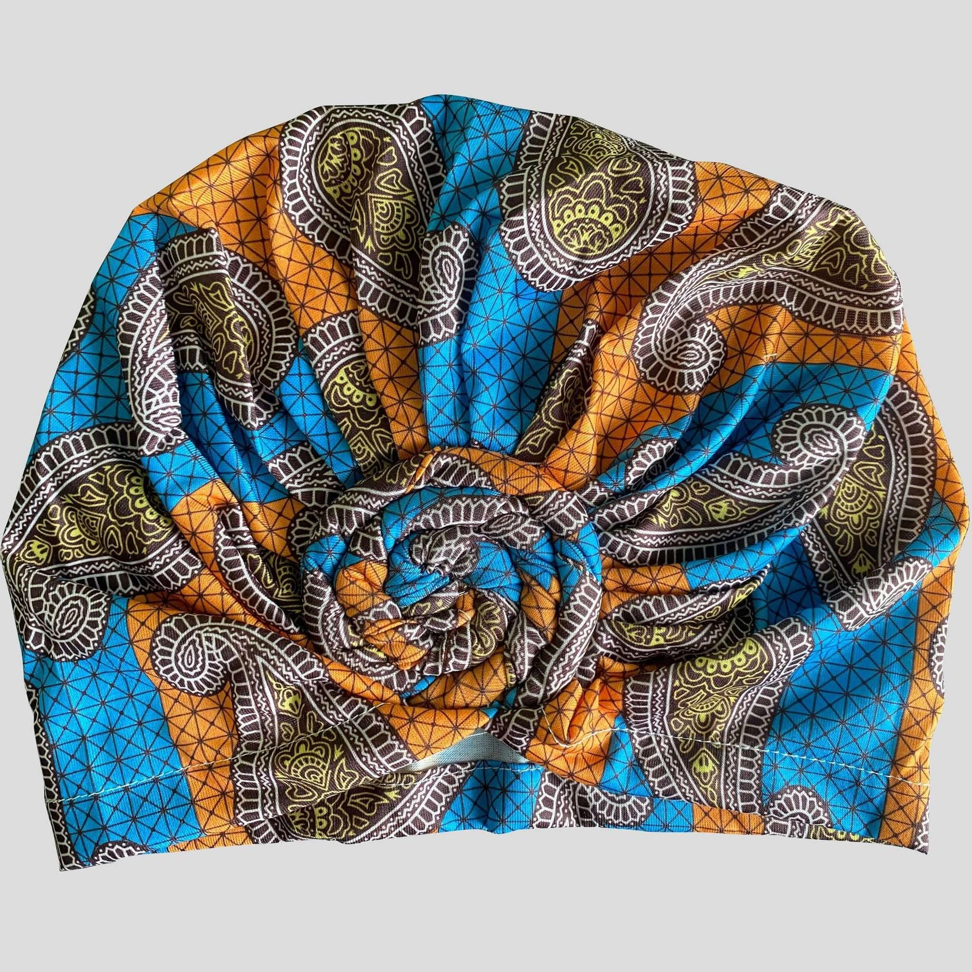"Top Knot ""Jasmine"" Headwrap - Durag Wave"