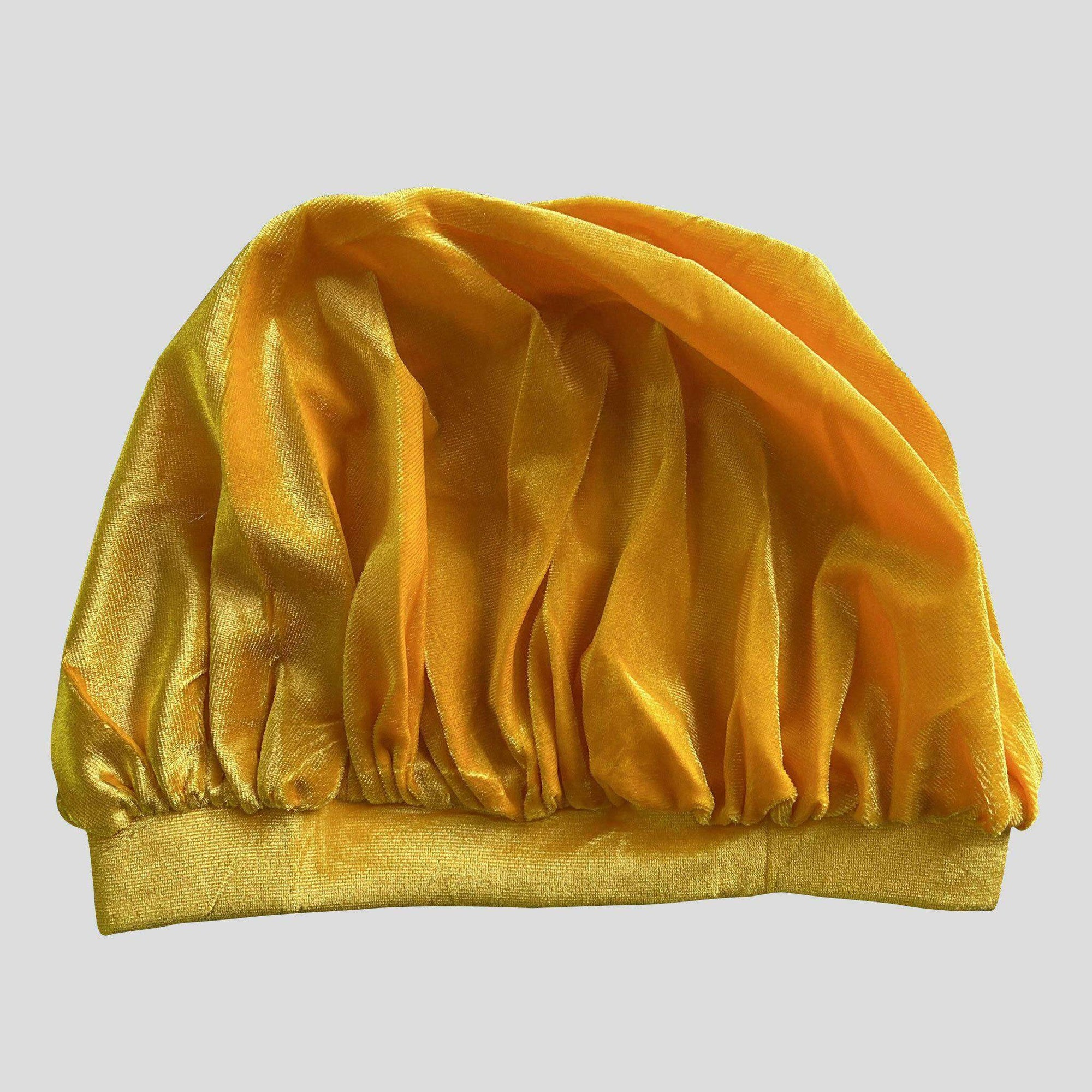 Yellow Velvet Bonnet - Durag Wave