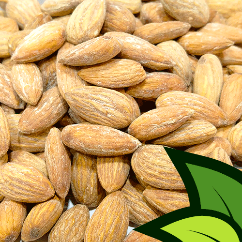 Roasted Almonds (Roasted Badam) - Organic Co