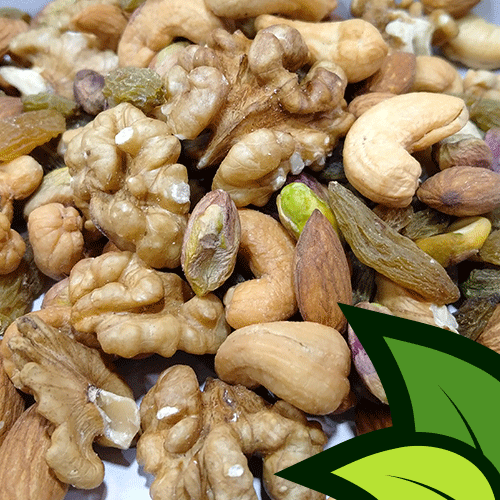 premium organic trail mix mixed dry fruits and nuts organic almonds pistachios cashew walnuts