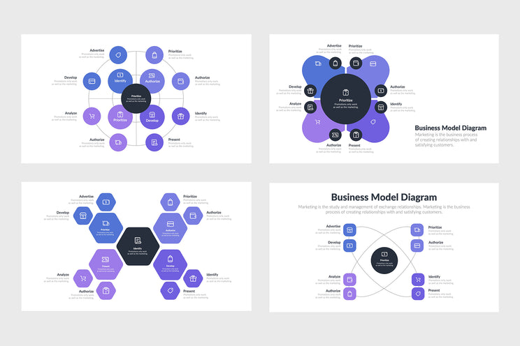 Business Model Diagram Templates for PowerPoint, Keynote, Google Slides, Adobe Illustrator, Adobe Photoshop