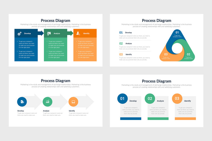 PPT Process Diagrams Templates for PowerPoint, Keynote, Google Slides