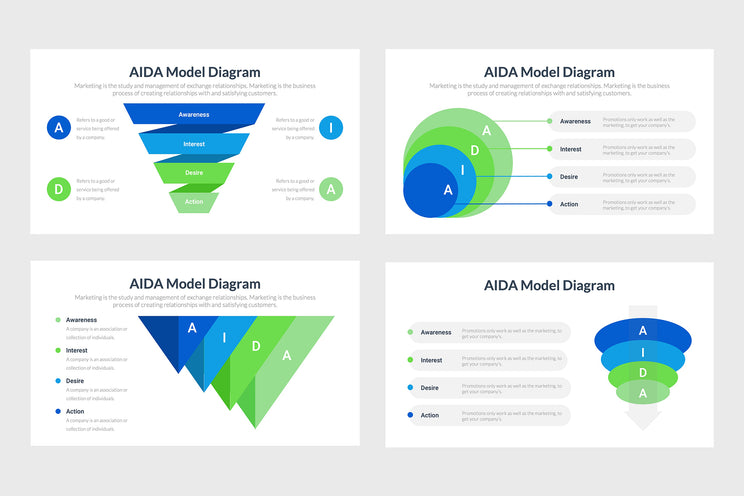 PPT AIDA Infographics Templates for PowerPoint, Keynote, Google Slides