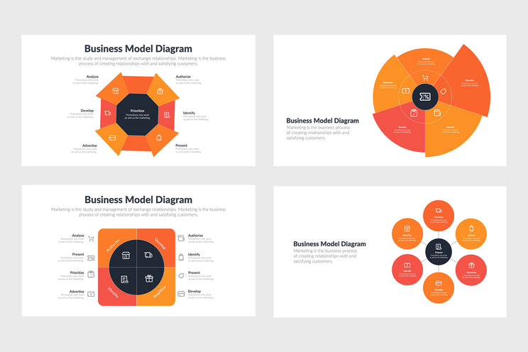 PPT Business Model Diagram Templates for PowerPoint, Keynote, Google Slides, Adobe Illustrator, Adobe Photoshop