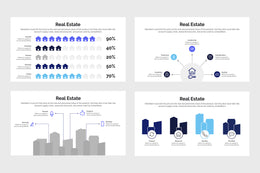 PPT Real Estate Infographics Templates for PowerPoint, Keynote, Google Slides, Adobe Illustrator, Adobe Photoshop