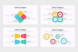 PPT SWOT Diagrams Templates for PowerPoint, Keynote, Google Slides