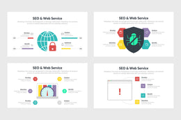 PPT SEO And Web Service Infographics Templates for PowerPoint, Keynote, Google Slides, Adobe Illustrator, Adobe Photoshop