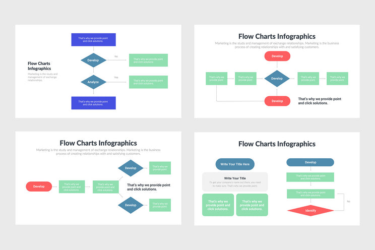 Flow Charts Infographics