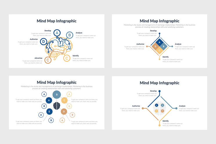 PPT Mindmap Diagrams Templates for PowerPoint, Keynote, Google Slides