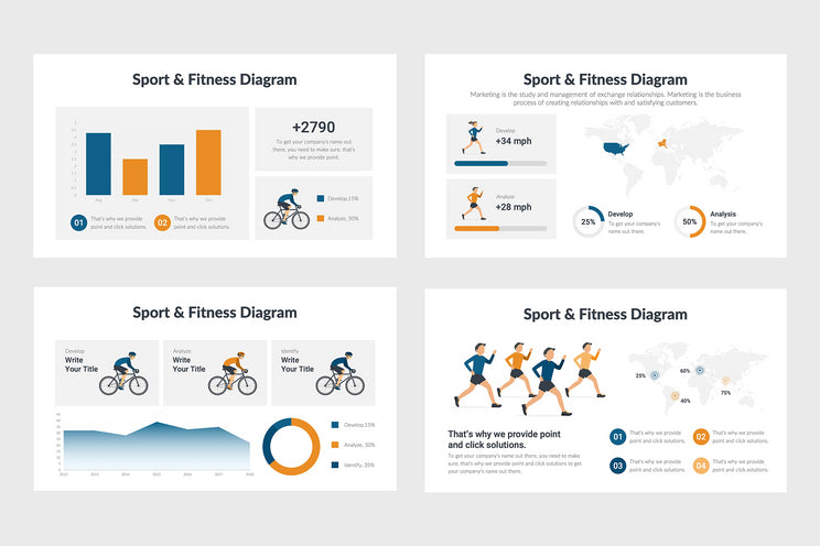 PPT Fitness and Sport Diagrams Infographics Templates for PowerPoint, Excel, Keynote