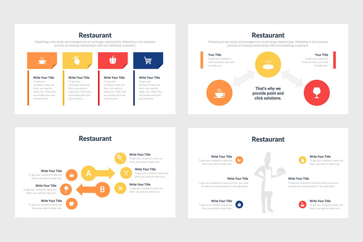 PPT Restaurant Diagrams Templates for PowerPoint, Keynote, Google Slides