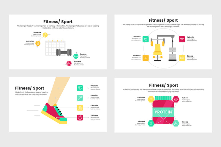 PPT Fitness and Sport Infographics Templates for PowerPoint, Keynote, Google Slides, Adobe Illustrator, Adobe Photoshop