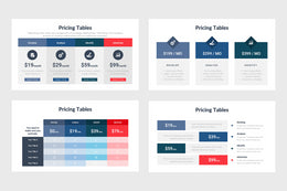 Pricing Tables Infographics