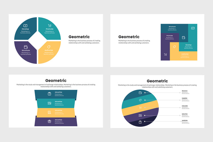 PPT Geometric Infographics Templates for PowerPoint, Keynote, Google Slides, Adobe Illustrator, Adobe Photoshop