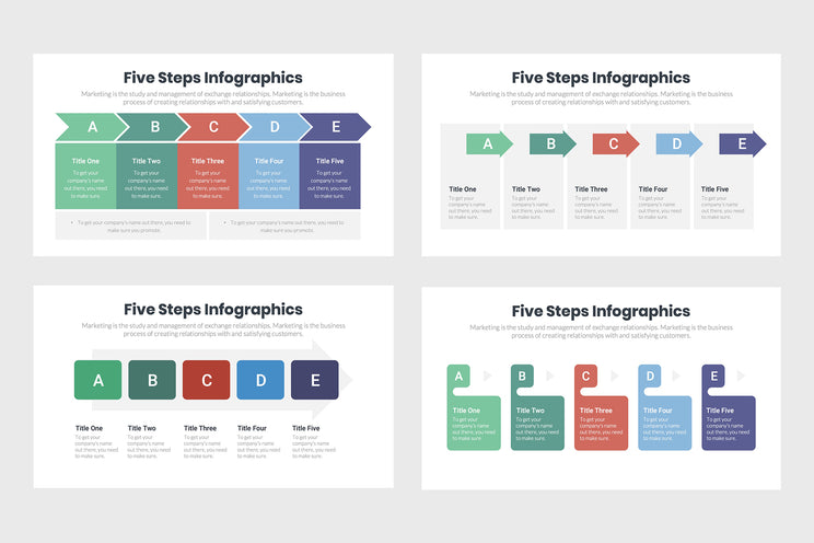 Five Steps Diagram Infographics