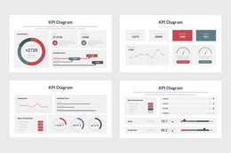 PPT KPI Diagrams Infographics Templates for PowerPoint, Excel, Keynote