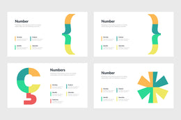 PPT Number Infographics Templates for PowerPoint, Keynote, Google Slides, Adobe Illustrator, Adobe Photoshop