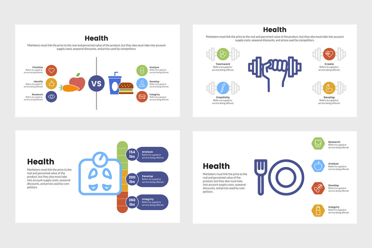 PPT Health Infographics Templates for PowerPoint, Keynote, Google Slides, Adobe Illustrator, Adobe Photoshop