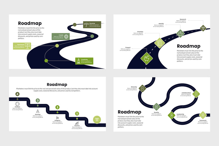 PPT Roadmap Infographics Templates for PowerPoint, Keynote, Google Slides, Adobe Illustrator, Adobe Photoshop