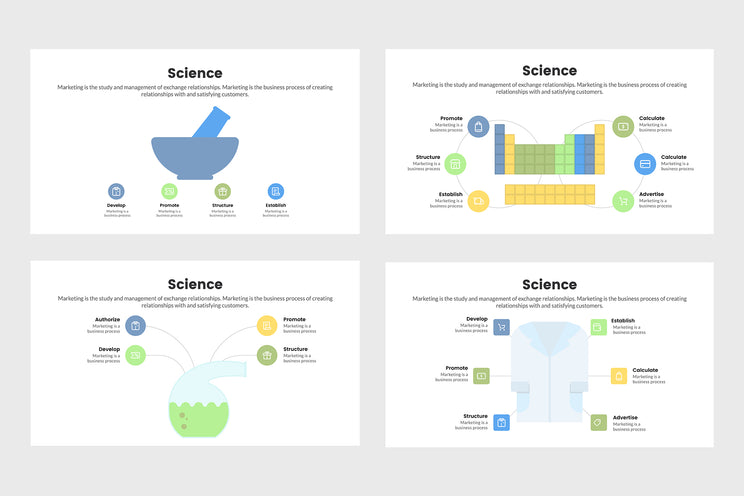 PPT Science Infographics Templates for PowerPoint, Keynote, Google Slides, Adobe Illustrator, Adobe Photoshop