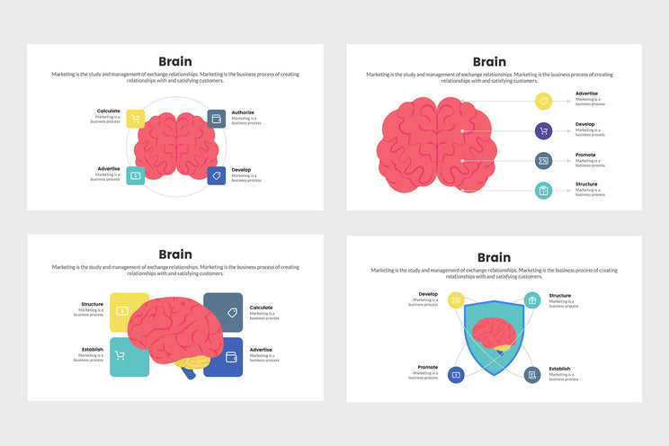 PPT Brain Infographics Templates for PowerPoint, Keynote, Google Slides, Adobe Illustrator, Adobe Photoshop