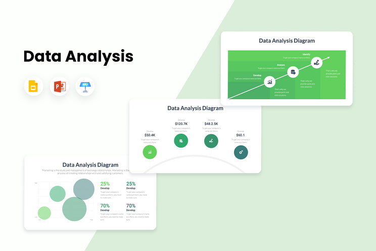PPT Data Analysis Diagrams Infographics Templates for PowerPoint, Keynote, Google Slides