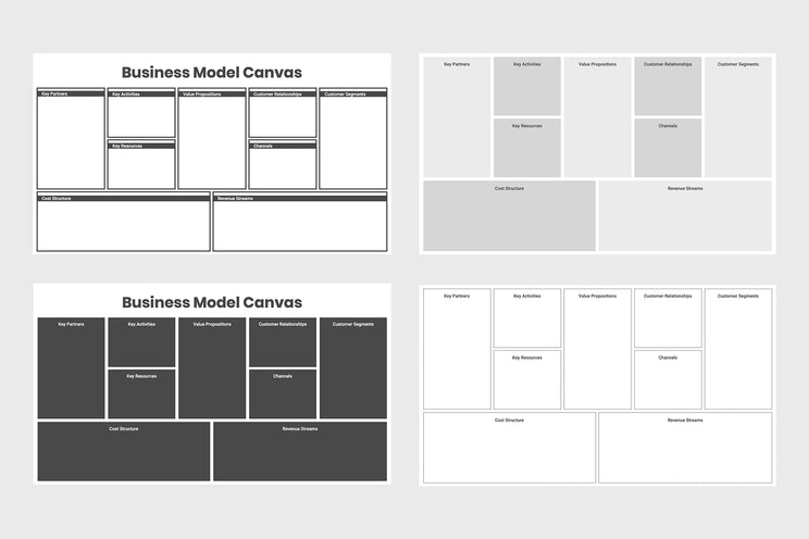 Business Model Canvas Infographics