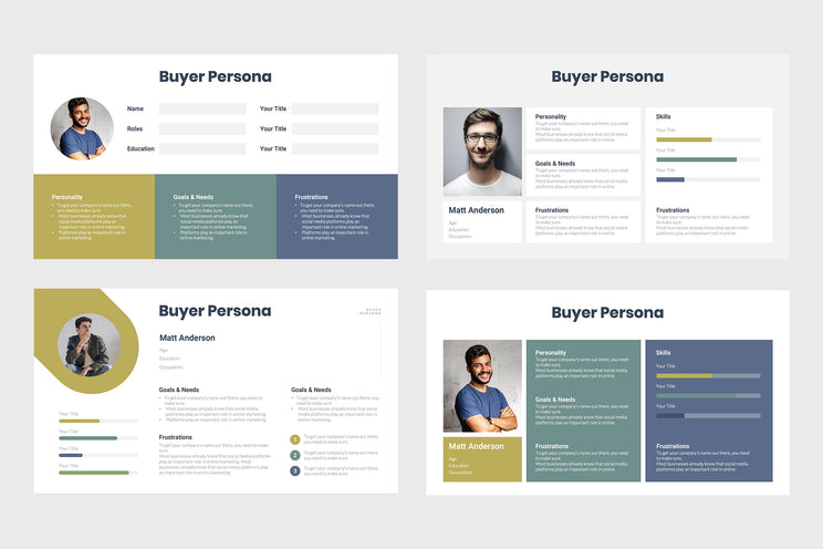 PPT Buyer Persona Templates for PowerPoint, Keynote, Google Slides,