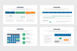 PPT Calendar Infographics Templates for PowerPoint, Keynote, Google Slides,