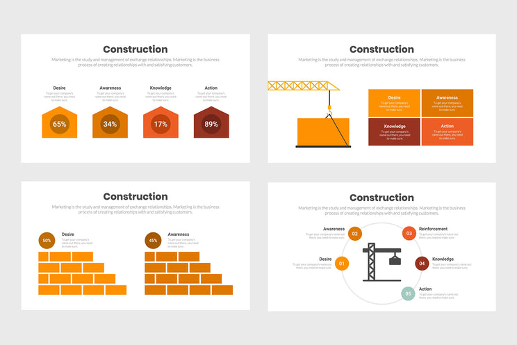 PPT Construction Infographics Templates for PowerPoint, Keynote, Google Slides,